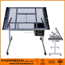 School Use Tempered Glass Drafting Table for Artist
