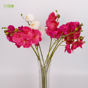 Wedding decoration Hot Pink Real Touch Artificial Flowers London Artificial Phalaenopsis Orchids