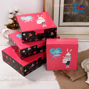 Promotion Custom printing folding moon cake packaging gift paper box
