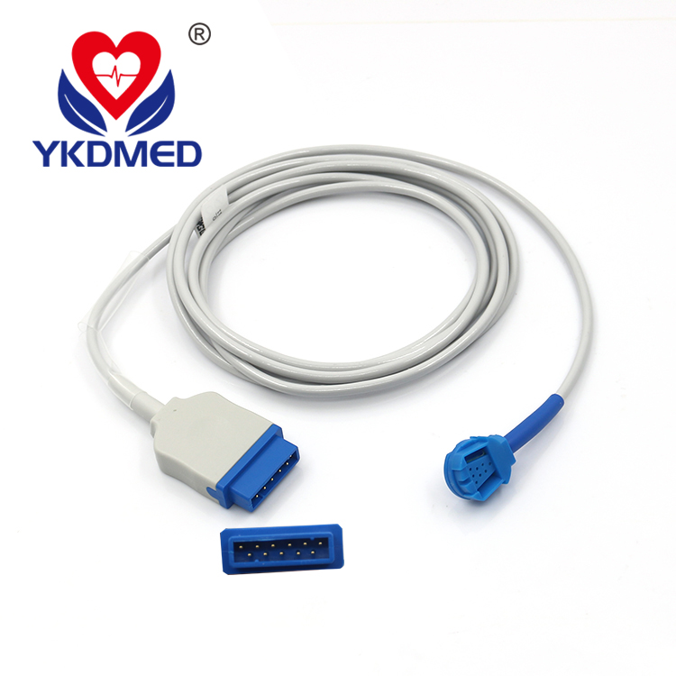 Compatible GE Ohmeda TruSat pulse oximeter, OXY-MC3, spo2 sensor extension cable with CE&ISO13485 Proved