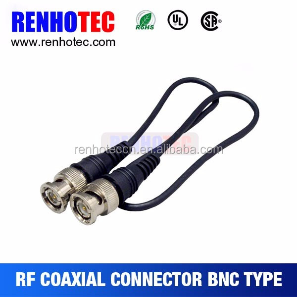 cctv security camera bnc connector 75 ohms coaxial cable