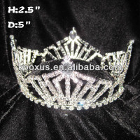 All Clear Crystal Full Round Pageant Crown
