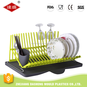 Chinese factory best price NEW DESIGN kitchen utensils multi-pladtic dish rack plate rack