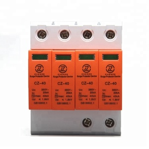 4P 40KA 380V AC Power Surge Protector SPD