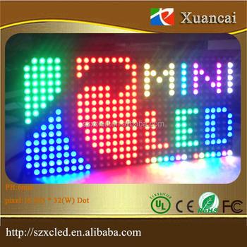 Dc5v Programmable Scrolling Message Diy Logo Indoor Use Rgb Full Color  Ph6mm Smd3528 Mini Led Display Board Led Logo Led Sign - Buy Led  Programmable