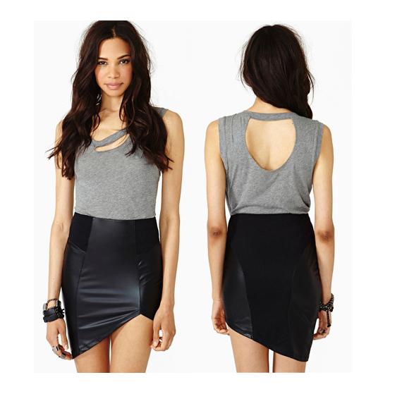 c9474b91628 PU Leather Patchwork OL Black Pencil Dress Sleeveless Sexy 2015 Women  Bodycon Dress Plus Size Ladies Work Tank Dress XXL Party