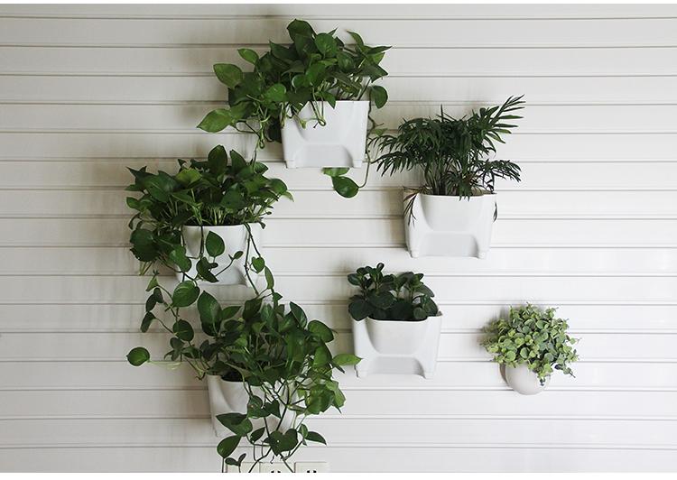 pared macetas colgantes para colgar plantas casa de plstico slatwall accesorios decorativos