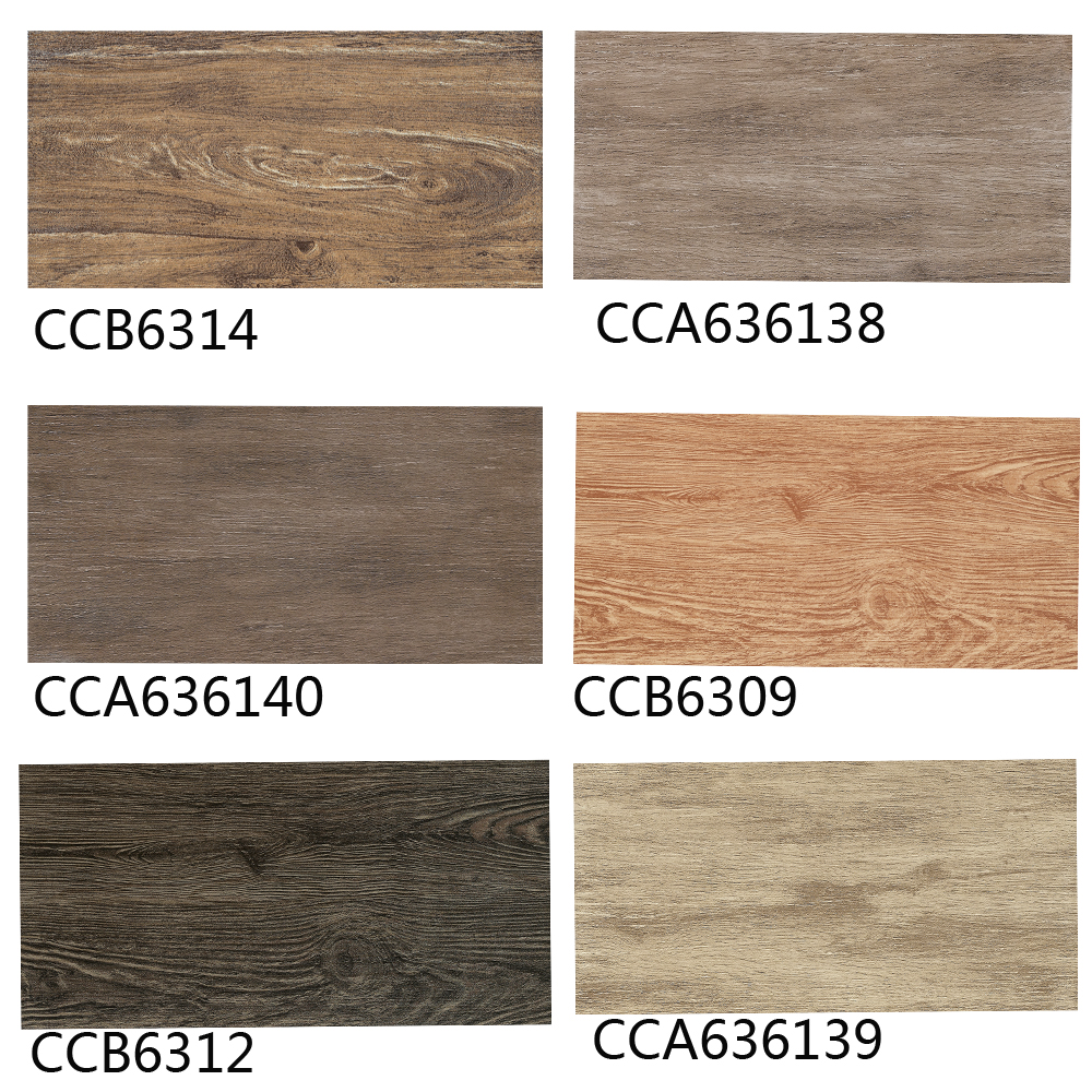 Ceramic tile Living room bedroom 120 * 600mm wood blocks Non-slip floor tile Home building A variety of colors