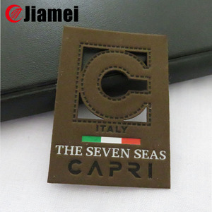 Garment pu leather label/leather patch for jeans