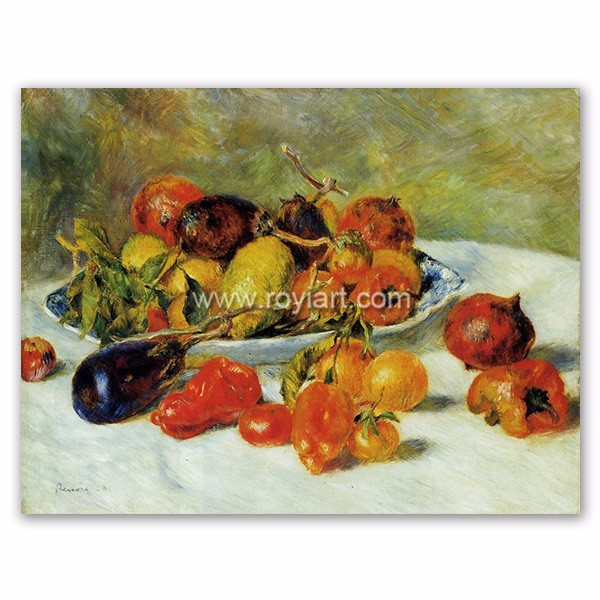museum quality handmade oil painting reproduction, Fruits of the Midi by Pierre Auguste Renoir