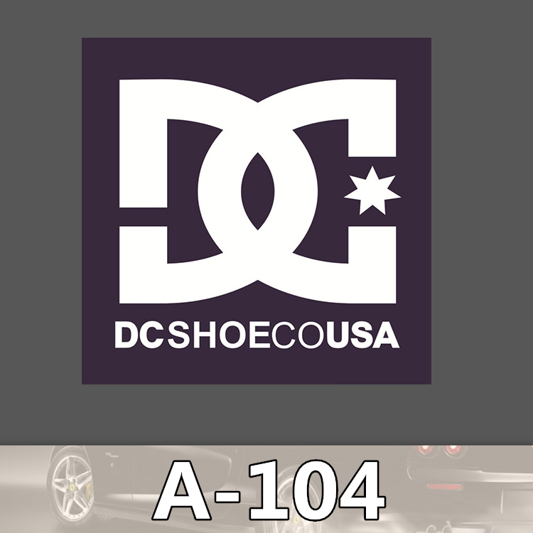 A 104 DC shoes Waterproof Fashion Cool DIY Stickers For Laptop Luggage Fridge Skateboard Car Graffiti