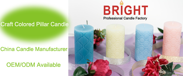 craft colored pillar candle