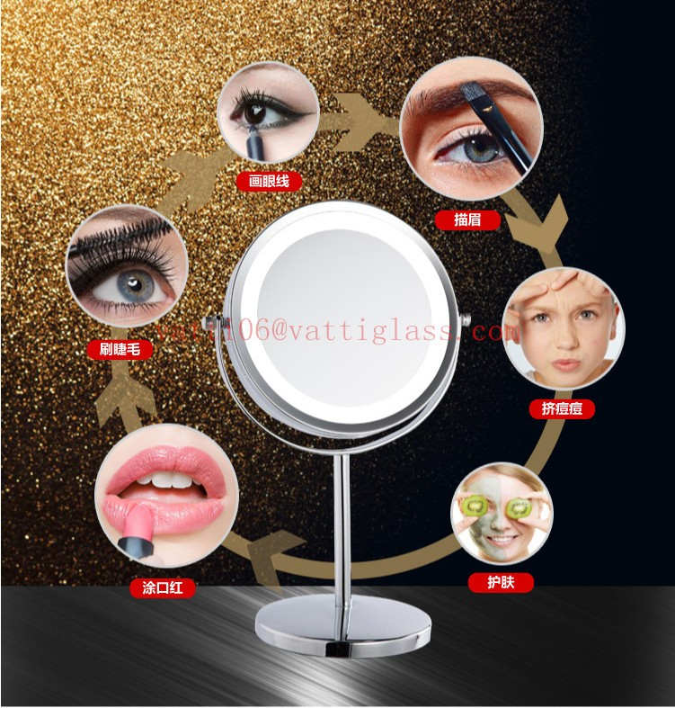 Hot Selling Professionele Ronde Staande LED Licht Make Up Cosmetische Spiegel