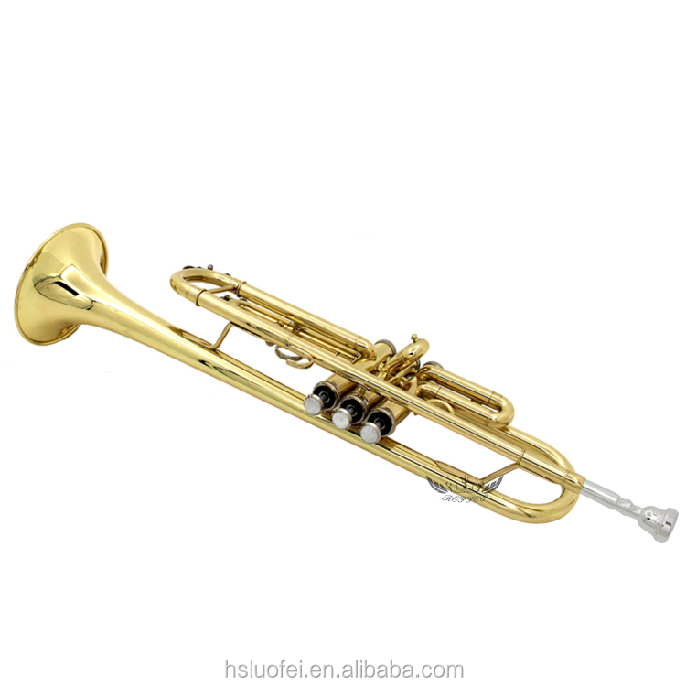 Roffee Musical Brasswind Instrument Gold Lacquer Bb Key ...
