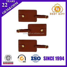 Wholesale Travel Suitcase faux leather luggage tag