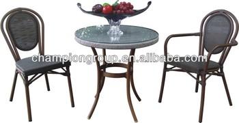 As set alumium telaio due tubi bar caffè libro tavolino sedie