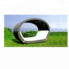 Green outdoor waterproof wicker round daybeds for sale indian daybed