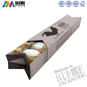 New recycled custom egg carton packaging boxes with logo