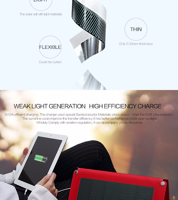 Hanergy 15w cigs rollable and folding solar charger umbrella