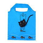 eco reusable 190t cat gift promotional polyester shopping bag