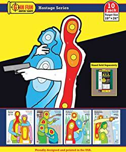 Gunfun Hostage Series 10 Pack 19 X 24 Full Color Paper Shooting Targets Gun Fun