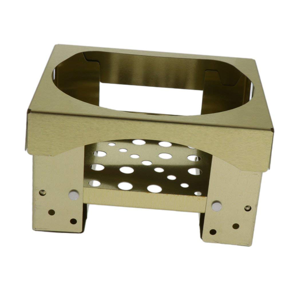Baoblaze Mini Folding Picnic Stove Lightweight Solid Fuel Alcohol Burner Portable Size for Camping Barbecue with Support Strength 10kg