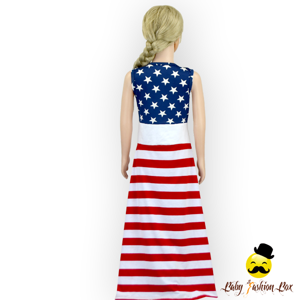 c52d00d76 Red White Blue 4th Of July Kids Girls Boutique Dresses Party Wear ...
