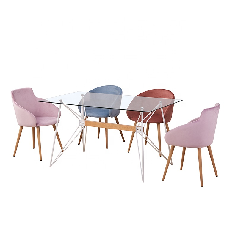 Dining Room Furniture Glass Six Chairs Modern Dining Table Set Buy Dining Room Set Restaurant Furniture Table And Chairs For Restaurant Product On Alibaba Com