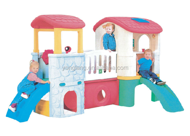 YL-HT038 2019 Hot Sale Kids Playhouse Outdoor Kindergarten Plastic Slides Playground Equipment for Kids