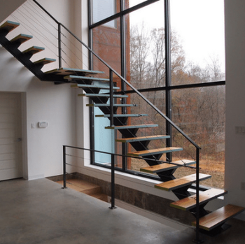 Steel Wood Staircase Floating Stairs Mono Stringer - Buy Floating Stairs  Mono Stringer,Steel Wood Staircase,Mono Stringer Staircase Product on