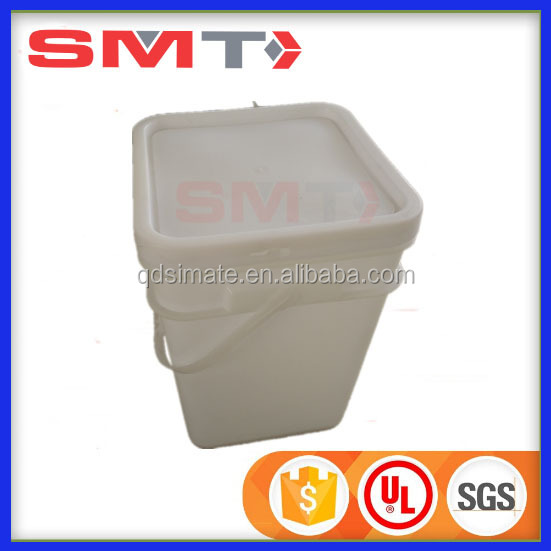 Qingdao Professional attached lid containers square plastic paint water bucket