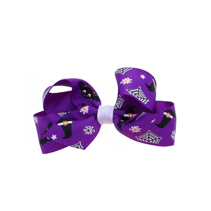 Pumpkin Bat Ribbon Halloween Kids Bow Hair Clip For Teenagers