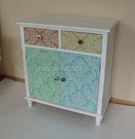 Distressed living room furniture wood table cabinet