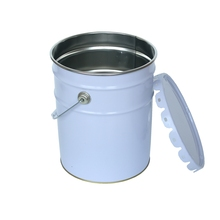 UN approved metal steel tin 5 gallon chemical paint oil bucket pail drum with lid