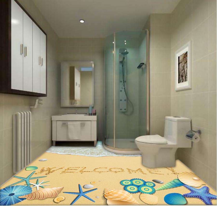 Waterproof Bathroom Walllpaper: 3d Flooring Wallpaper Custom Waterproof 3d Pvc Flooring