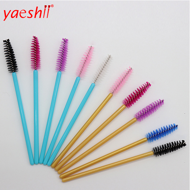 1/50Pcs/Pack Disposable Micro Eyelash Brushes Mascara Applicator Wand Brushes Comb Eyelash Brushes Makeup Tool Kit