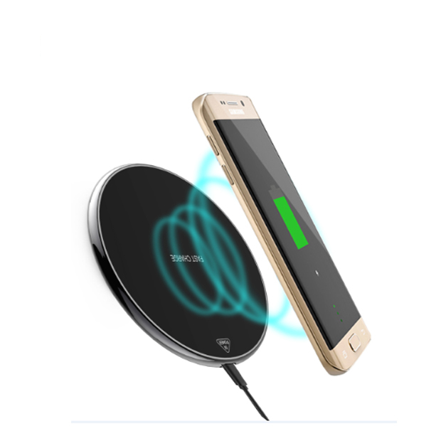 Zinc alloy materials 5W fast wireless charger for universal wireless phone