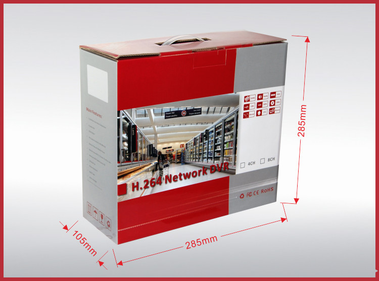 Dvr 4 Channel Full D1 Cheap Cctv Security P2p Standalone