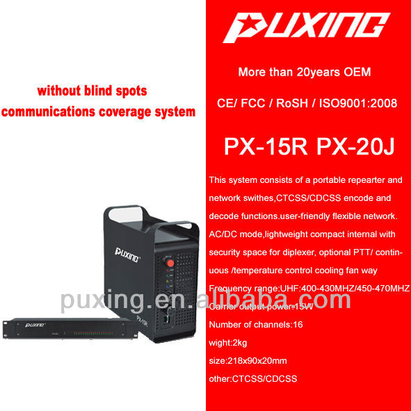 repeater PX-15R lightweight building system PC programming with RJ45 programming interface 15w 16 channels