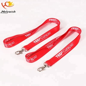 Customized Polyester Printed Metal Clips Lanyard