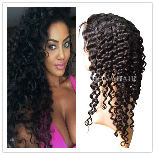 New curl hair full lace brazilian human hair wigs lace wedding dresses