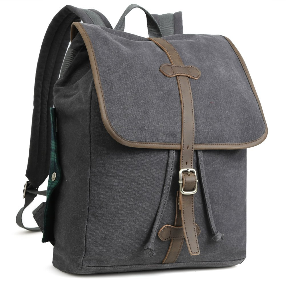 bf1e94baa99e Get Quotations · Koolertron Canvas Backpack Rucksack Business Fashion  Casual Travel Bag Students Camping Bag Laptop Bag for 13