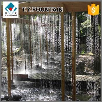 Graphic Waterfall Fiber Rain Curtain