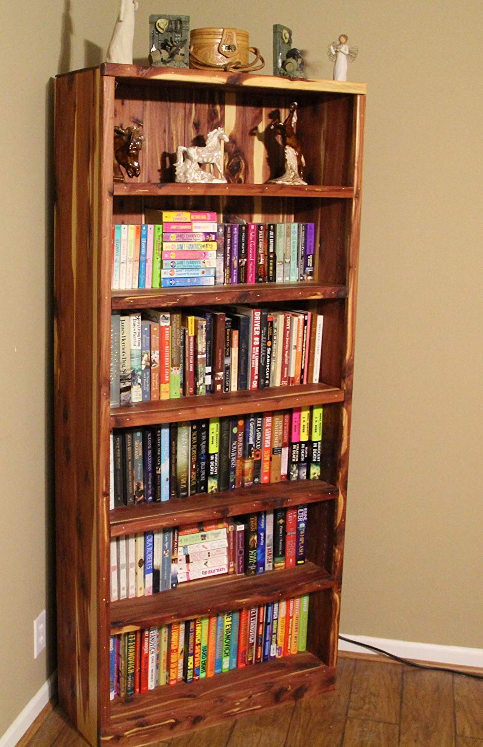 Cedar Bookcase For Living Room Bookshelf Bedroom Wooden Library Furniture Display Shelving Unit Rustic Cabin