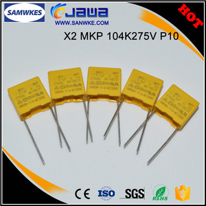 Factory direct small size MKP X2 capacitor 275v 104k
