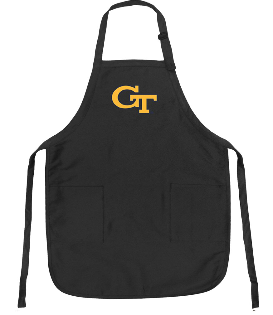 Official Georgia Tech Aprons Deluxe GT Yellow Jackets Apron w/ Pockets