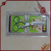 Easy grip soft grip curved safety hair cutting scissors