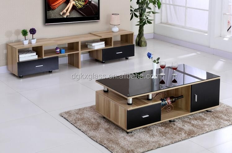 Incroyable Living Room Furniture Glass Top Tea Table Center Table Design