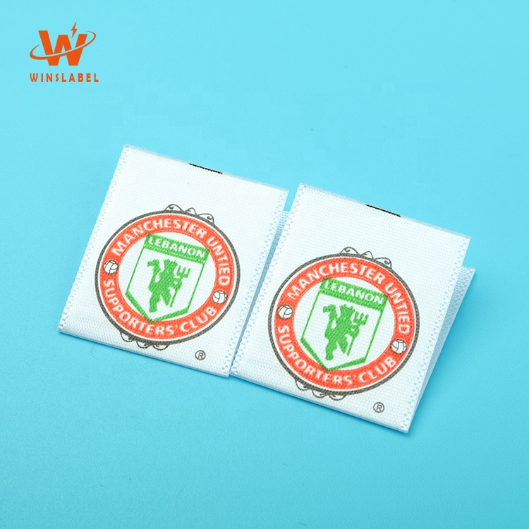 Customized Sew in Silk Screen Printed Logo Polyester Satin Garment Care Labels Tags for Clothing, Follow pantone color chart
