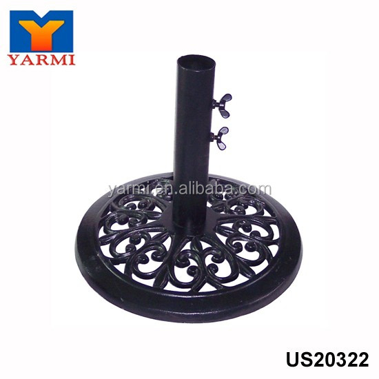 OUTDOOR DECORATIVE METAL PARASOL BASE